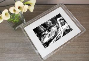 Contenitore in plexiglass per le foto di matrimonio