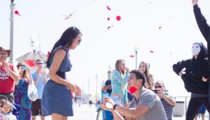 Proposta di matrimonio con un Flash Mob per strada