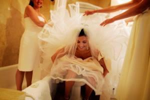 Sposa alle toilette