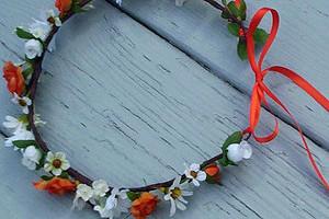 Coroncina di fiori freschi da poggiare sulla fronte - Wish L'Officina dei Sogni