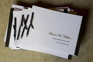 Libretti per la messa di matrimonio con nastrino nero