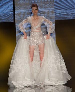 Abito da sposa con short sotto la gonna - Collezione 2016 Amelia Casablanca