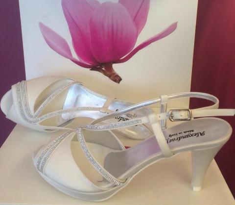 Sandalo con file di Swarovski e cinturino - AlexandraEffe Scarpe