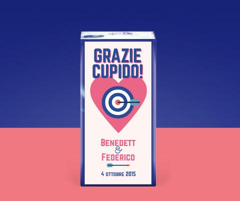 Fazzoletti Tempo personalizzati per il matrimonio con Cupido