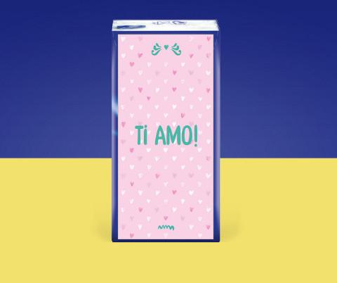 Fazzoletti Tempo personalizzati con frase d'amore