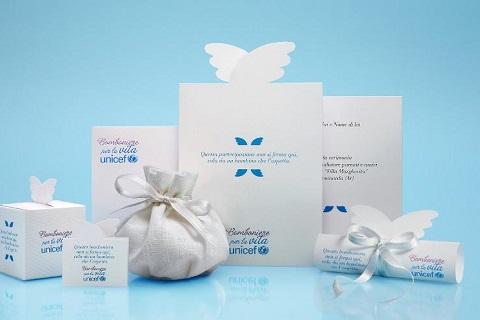 Bomboniere solidali per il matrimonio dell'UNICEF