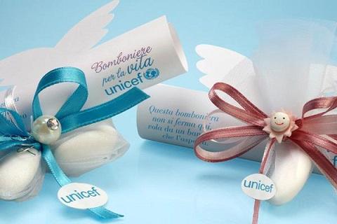 Pergamena per le bomboniere solidale dell'UNICEF