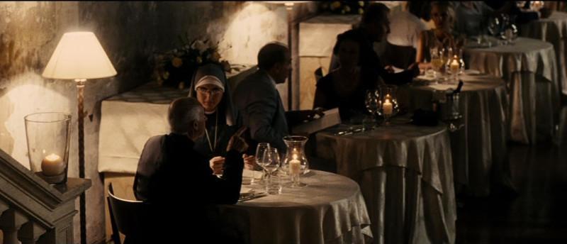 Scena del film La Grande Bellezza girata presso la Sala Veranda dell'Hotel Columbus
