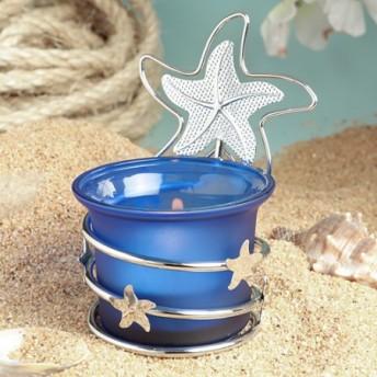 Porta candela a forma di stella marina