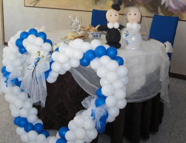 Allestimento con i palloncini per il matrimonio
