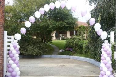 Arco con i palloncini per il matrimonio