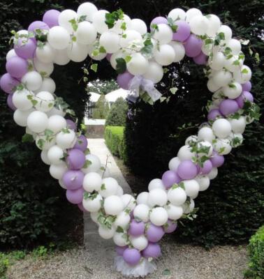 Cuori di palloncini per il matrimonio