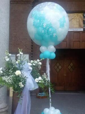 Mongolfiera di palloncini per il matrimonio