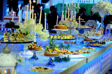 Buffet per un matrimonio elegante