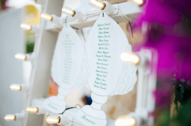Tableau di matrimonio con le luminarie