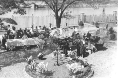 Ricevimento a Villa Lina negli anni '50