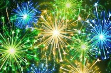 Fuochi d'artificio per il matrimonio