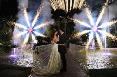 Spettacolo piromusicale per matrimonio