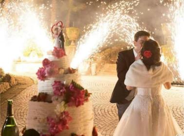 spettacolo piromusicale sposi