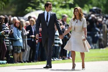 Il tennista Roger Federer con la moglie Mirka