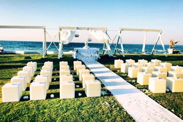 Allestimento cerimonia in spiaggia