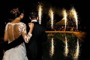 Fuochi d'artificio a Villa Demetra