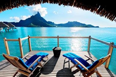 Vista mare dal Bungalows a Bora Bora