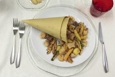 Frittura mista al tavolo