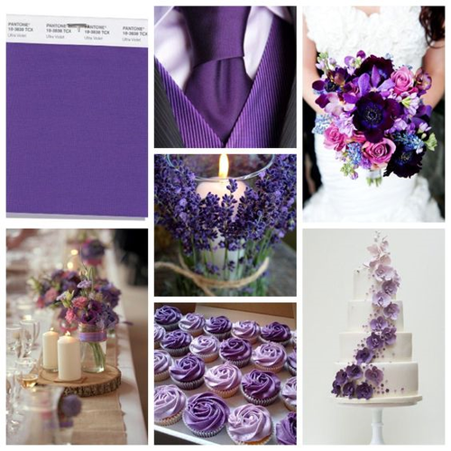 Palette color Pantone Ultra Violet