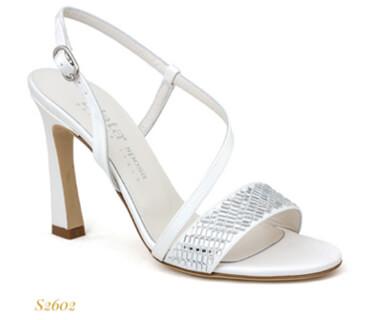 Sandalo da sposa Elata con fascia di cristalli e cinturino