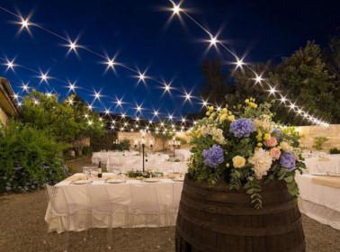 I fiori per un matrimoniio di sera