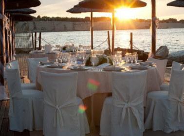 Tramanto ad un matrimonio sul mare