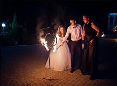 Spettacolo fuoco sposi