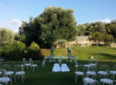 allestimento total white giardino