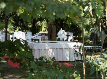 allestimento del-giardino matrimonio vegano