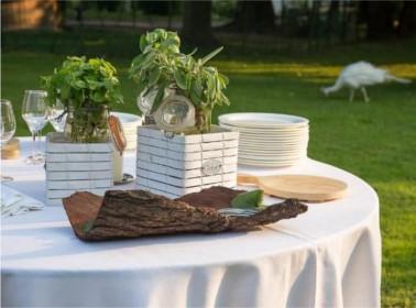 allestimento tavoli matrimonio vegano