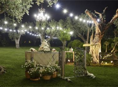 banchetto torta matrimonio vintage