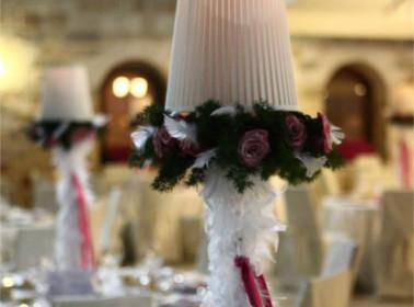 decorazioni matrimonio tema rose