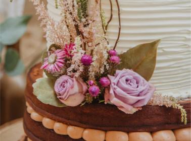 torta matrimonio tema rose