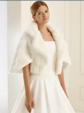pellicciotto abiti sposa invernali