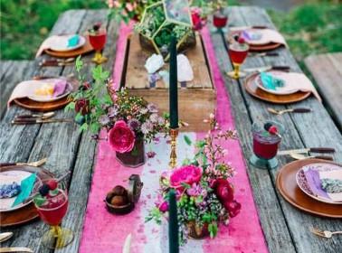 matrimonio shabby allestimento tavoli