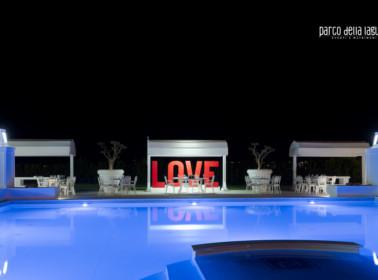 matrimonio lago piscina