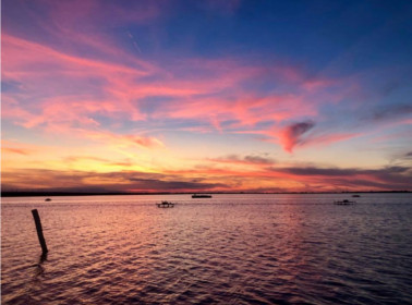 matrimonio lago tramonto