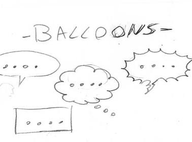 matrimonio fumetti balloons
