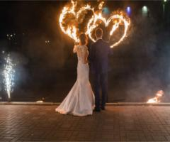 Matrimonio con artisti di strada