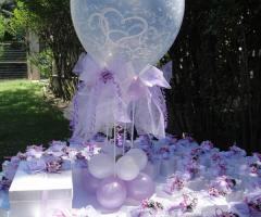 Il Punto Esclamativo - Tavolo delle bomboniere con i palloncini