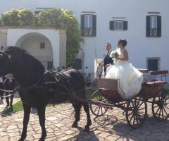 Masseria Luco - Gli sposi in calesse