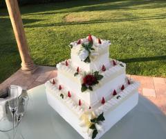 Torta nuziale fatta in casa
