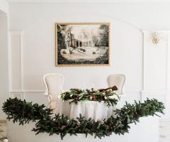 Villa Valente - Decorazioni al tavolo degli sposi