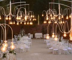 Villa Madama - Il ricevimento di nozze di sera nella Sala Botticelli